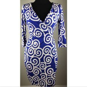 Diane Von Furstenberg DVF Julian Silk Wrap Dress 8